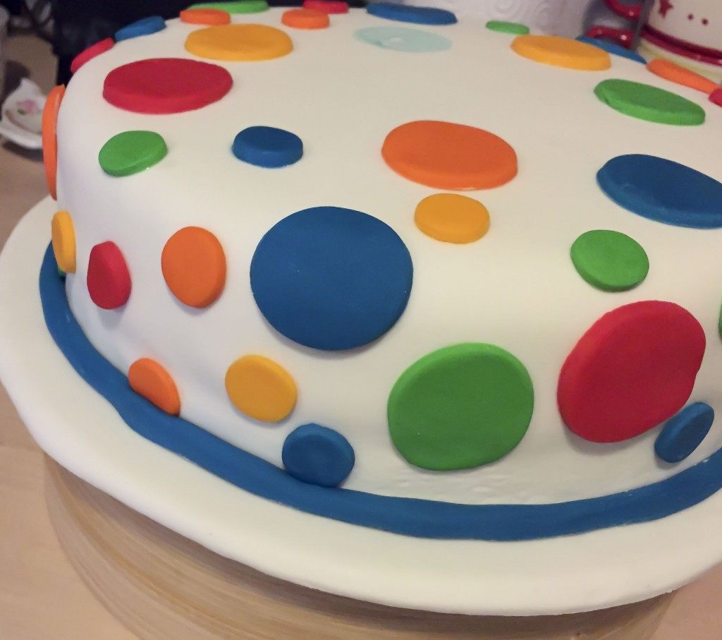 Decorate Cake With Brush And Food Colouring