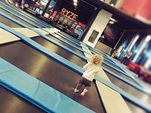 Toddler Trampolining at Ryze Glasgow