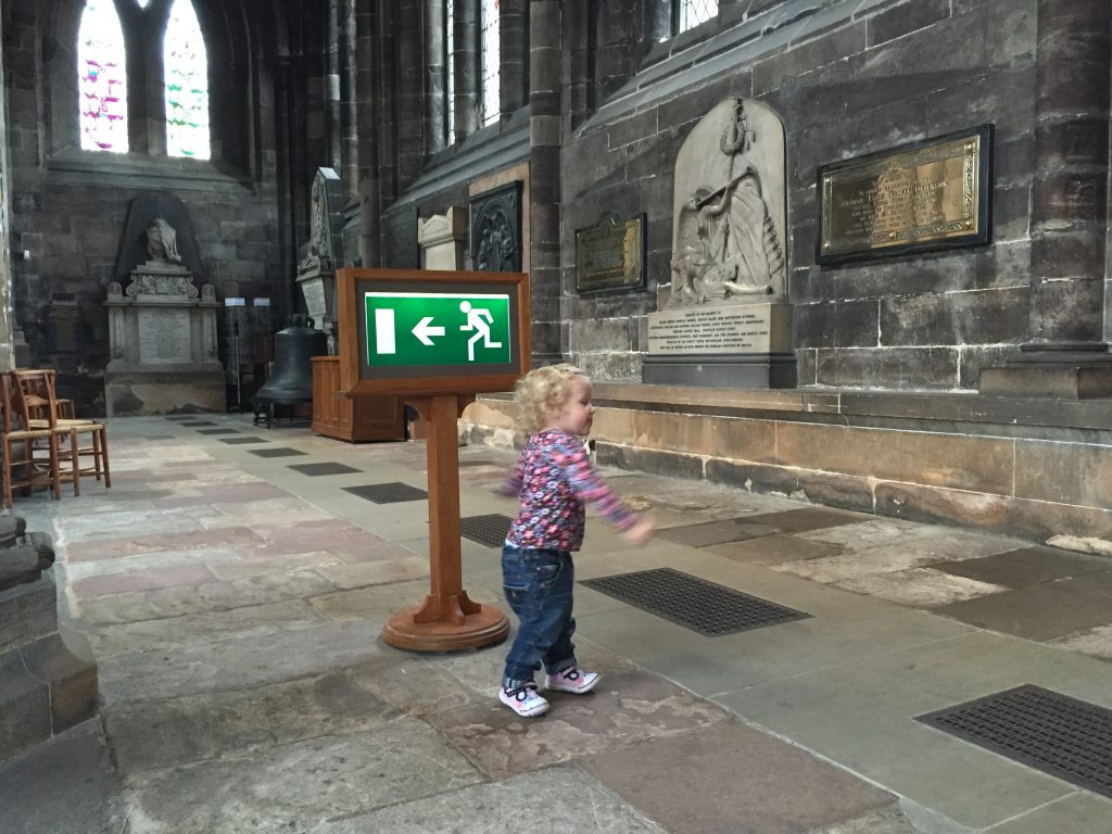 visiting glasgow cathedral with a toddler