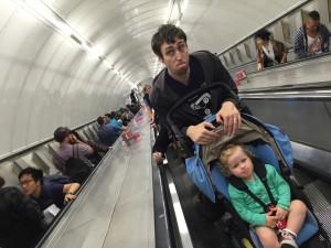 London underground with a pram
