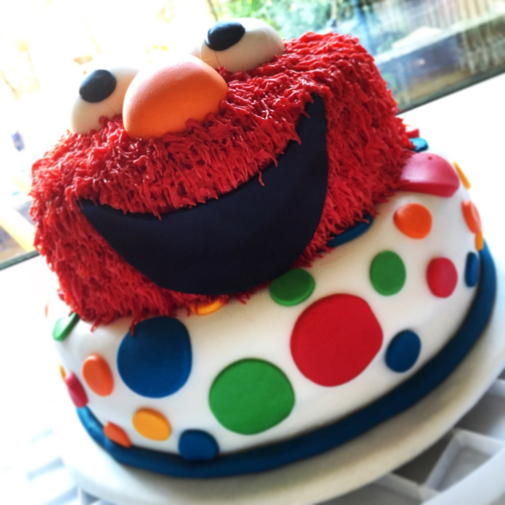 elmo-second-birthday-cake