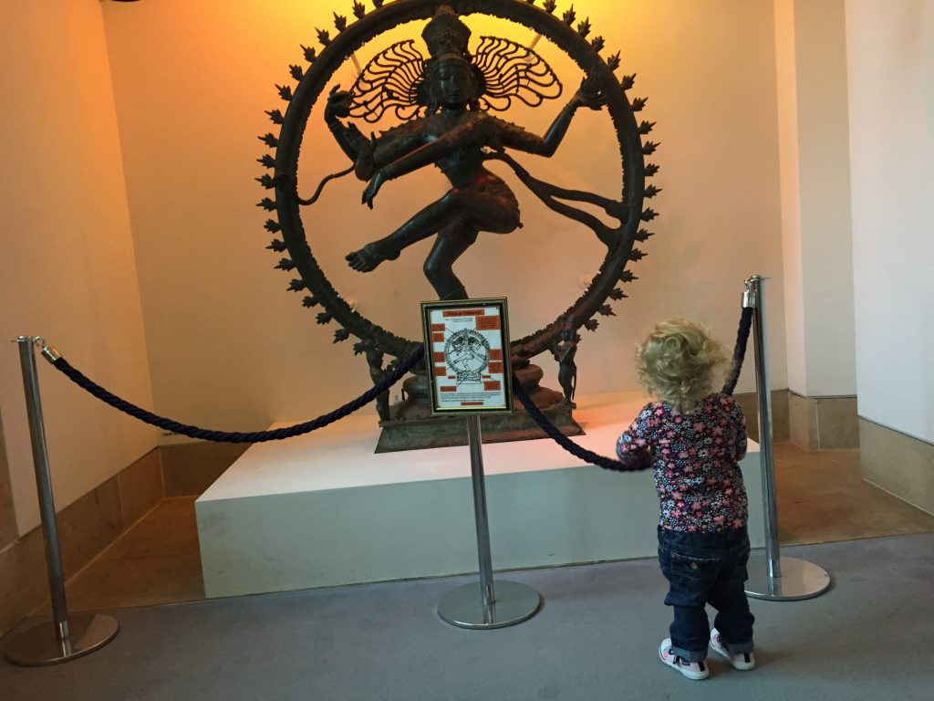 exploring st mungo museum with a toddler