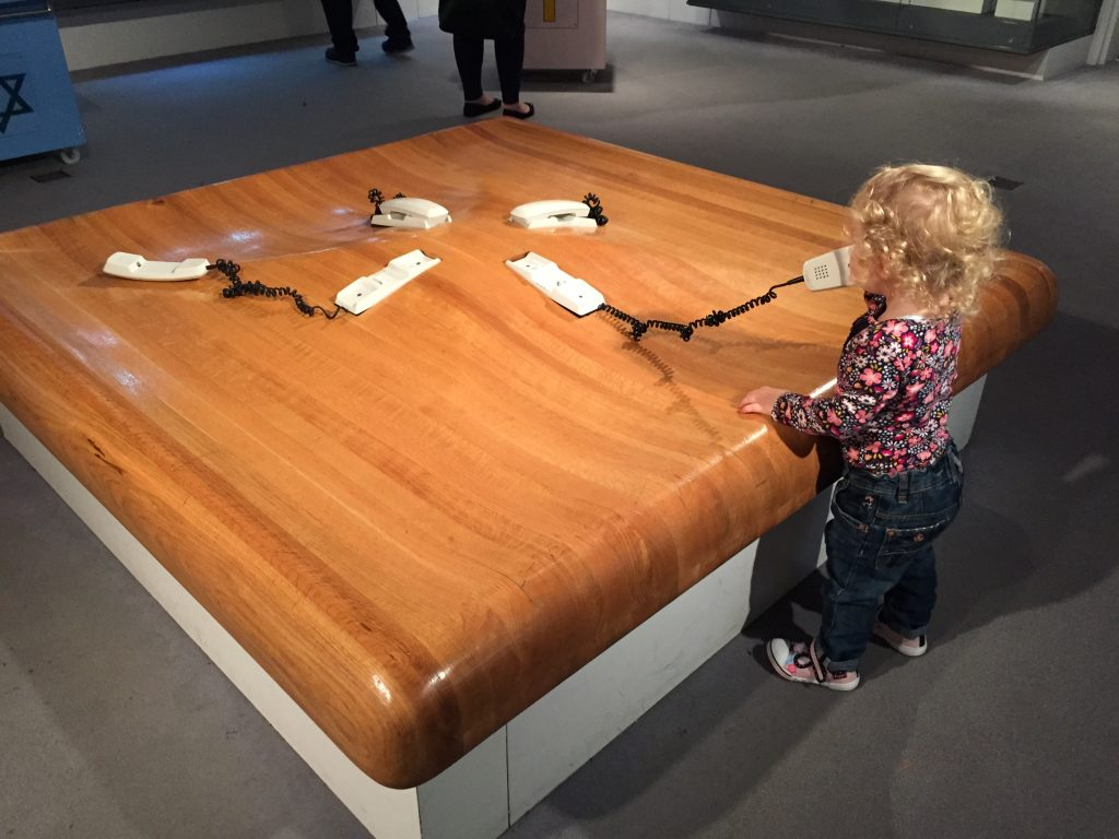 st mungo museum with a toddler